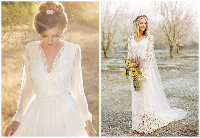 Fabulous fall wedding dress ideas long sleeves and lace junglespirit Choice Image