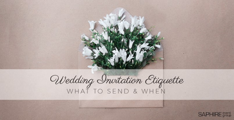 What Is The Etiquette For Wedding Invitations: Wedding Invitation Etiquette: What To Send And When