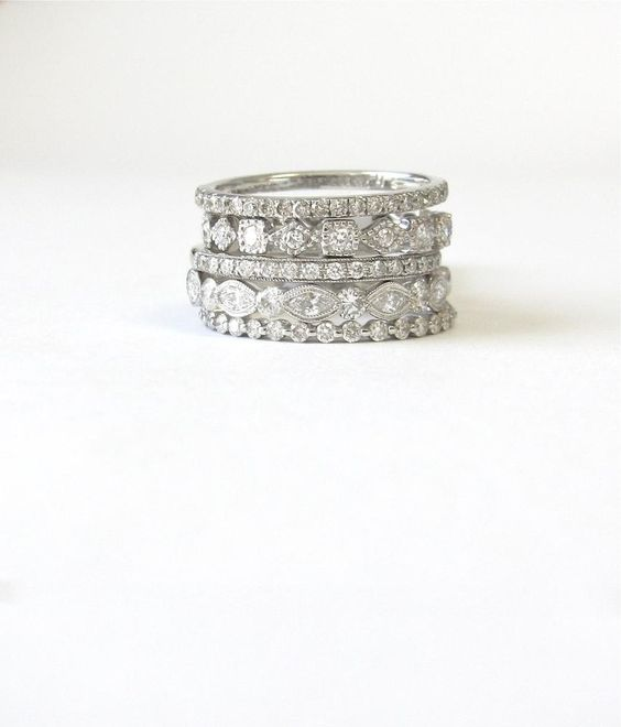 mix and match wedding rings stackable