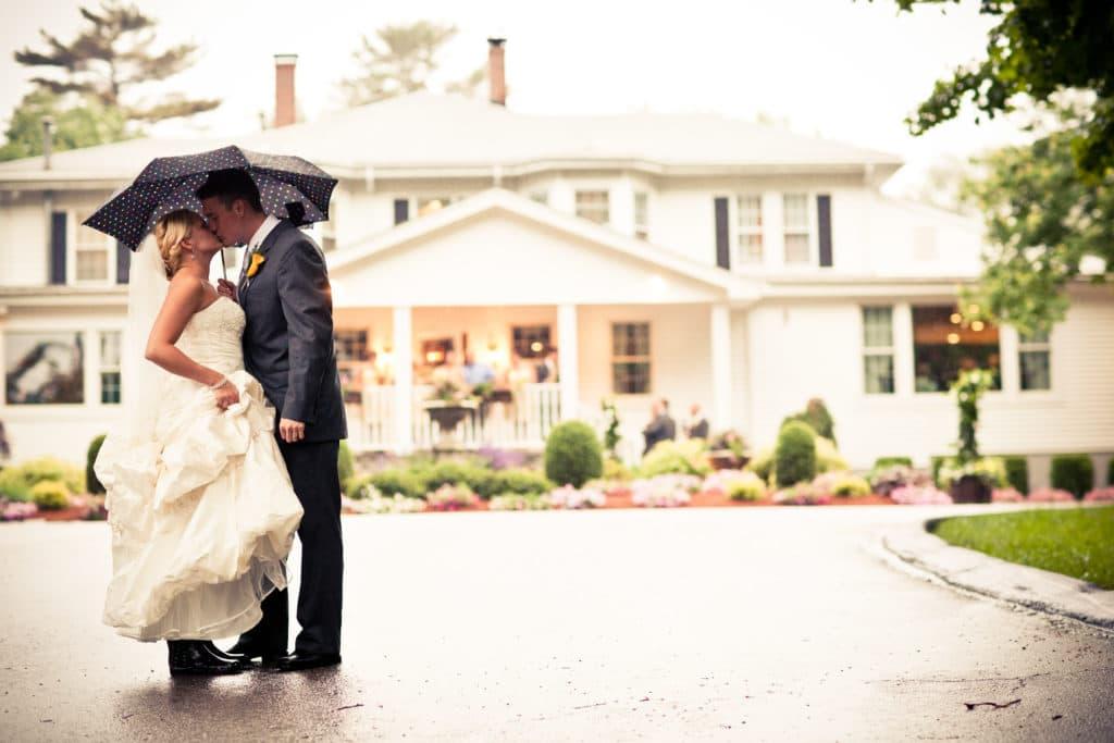 rainy day wedding prep