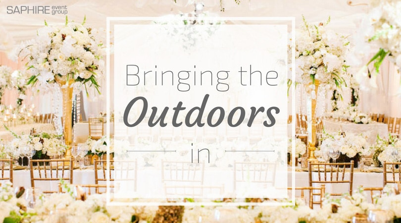 Wedding Themes: Bringing The Outdoors In