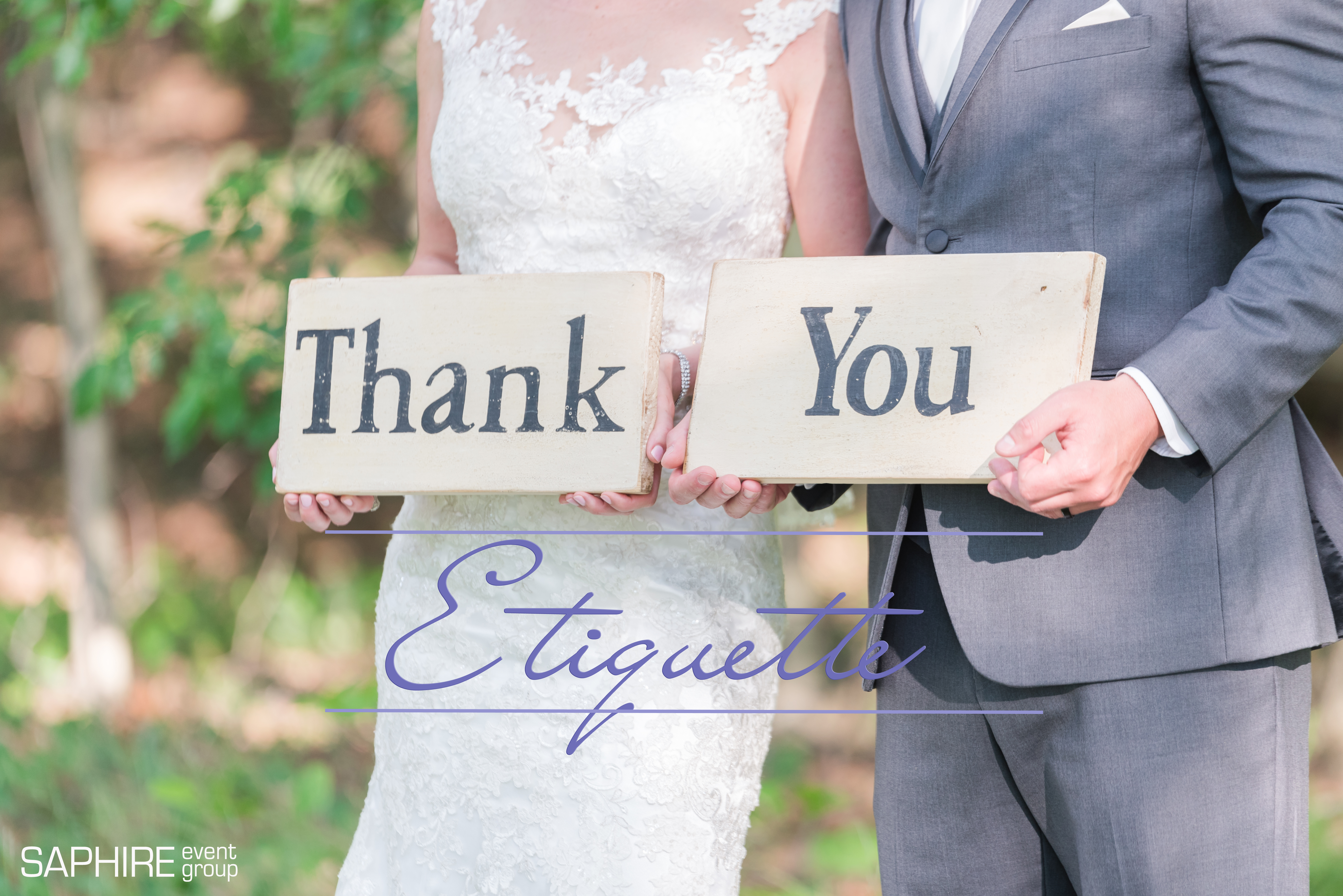 wedding thank you etiquette
