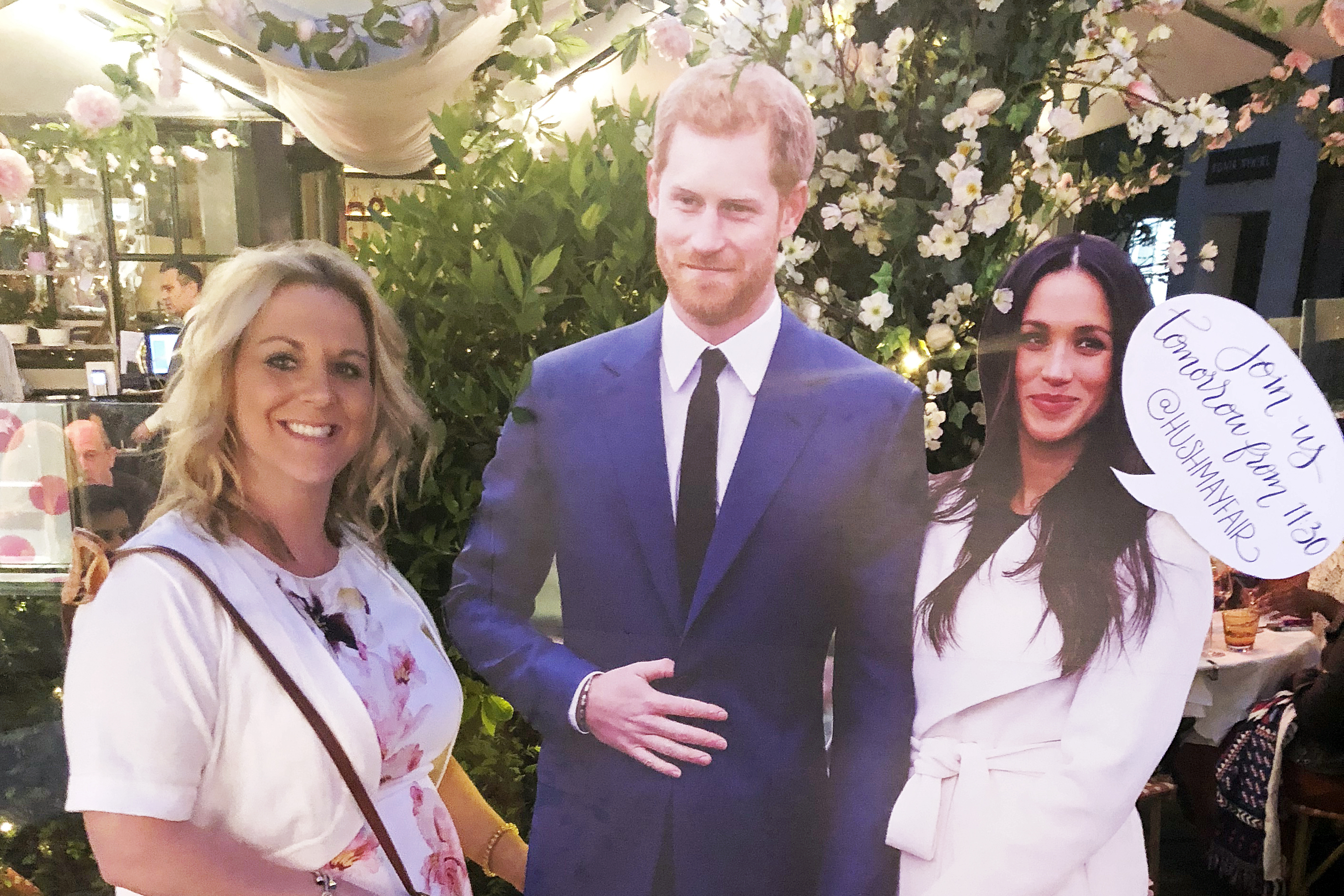 SEG Bride Tara with Harry & Meghan Cutouts for Royal Wedding