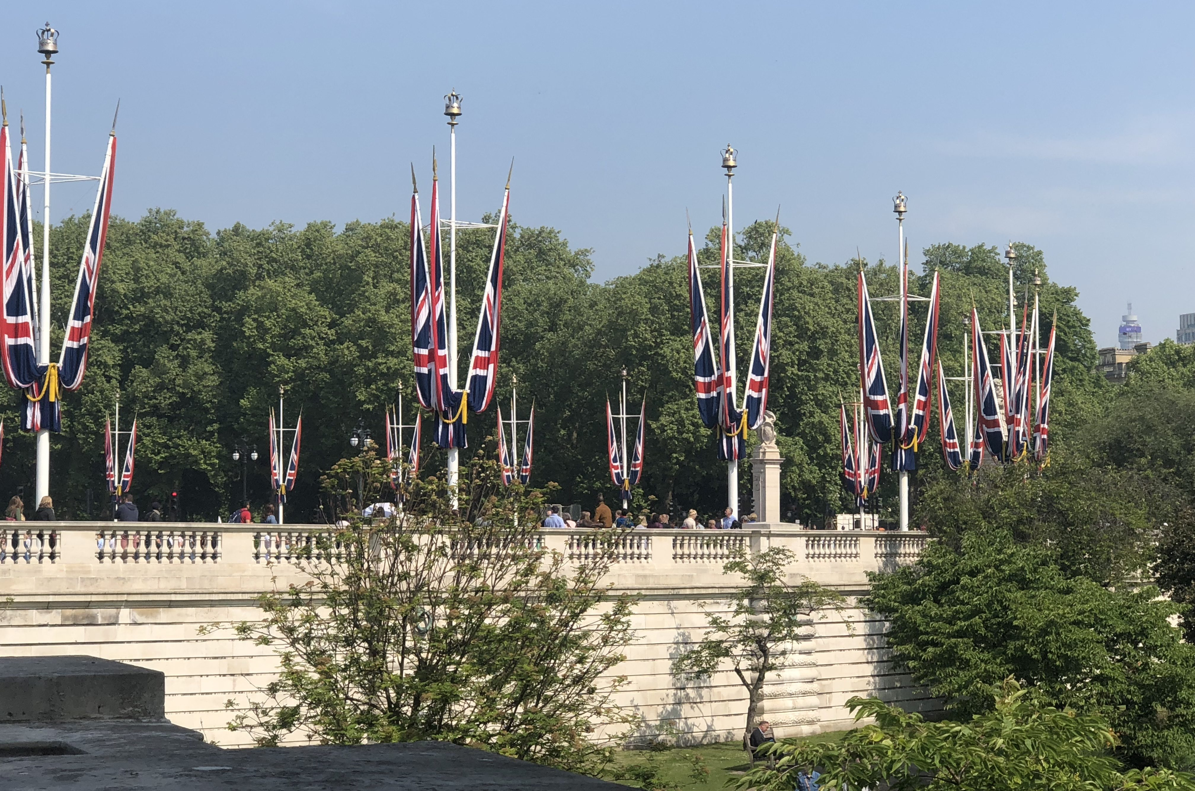 Scenes from London during the Royal Wedding