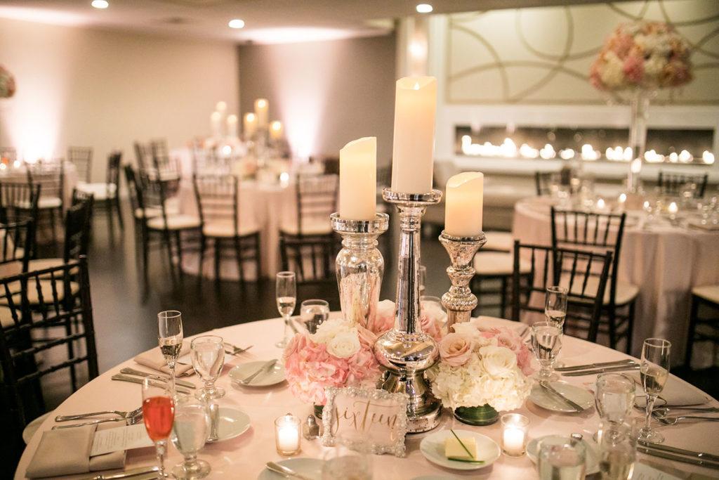 The Villa – Grand Ballroom | Candlelight wedding reception