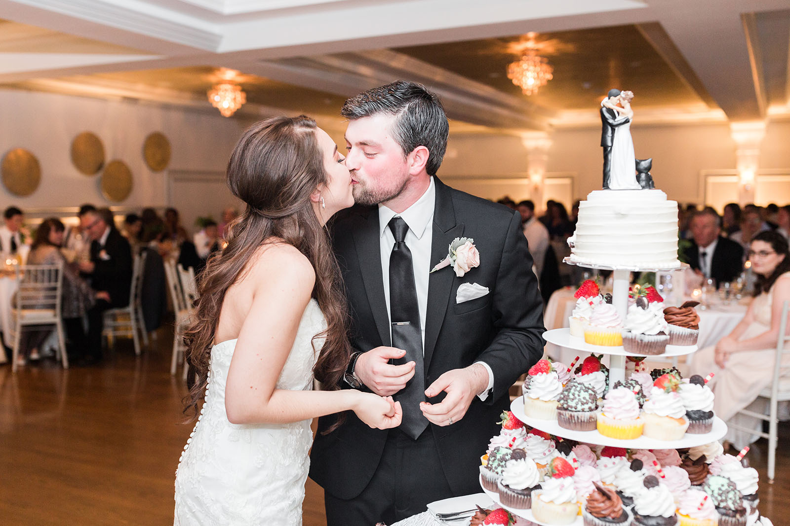 Wedding with cupcake tower