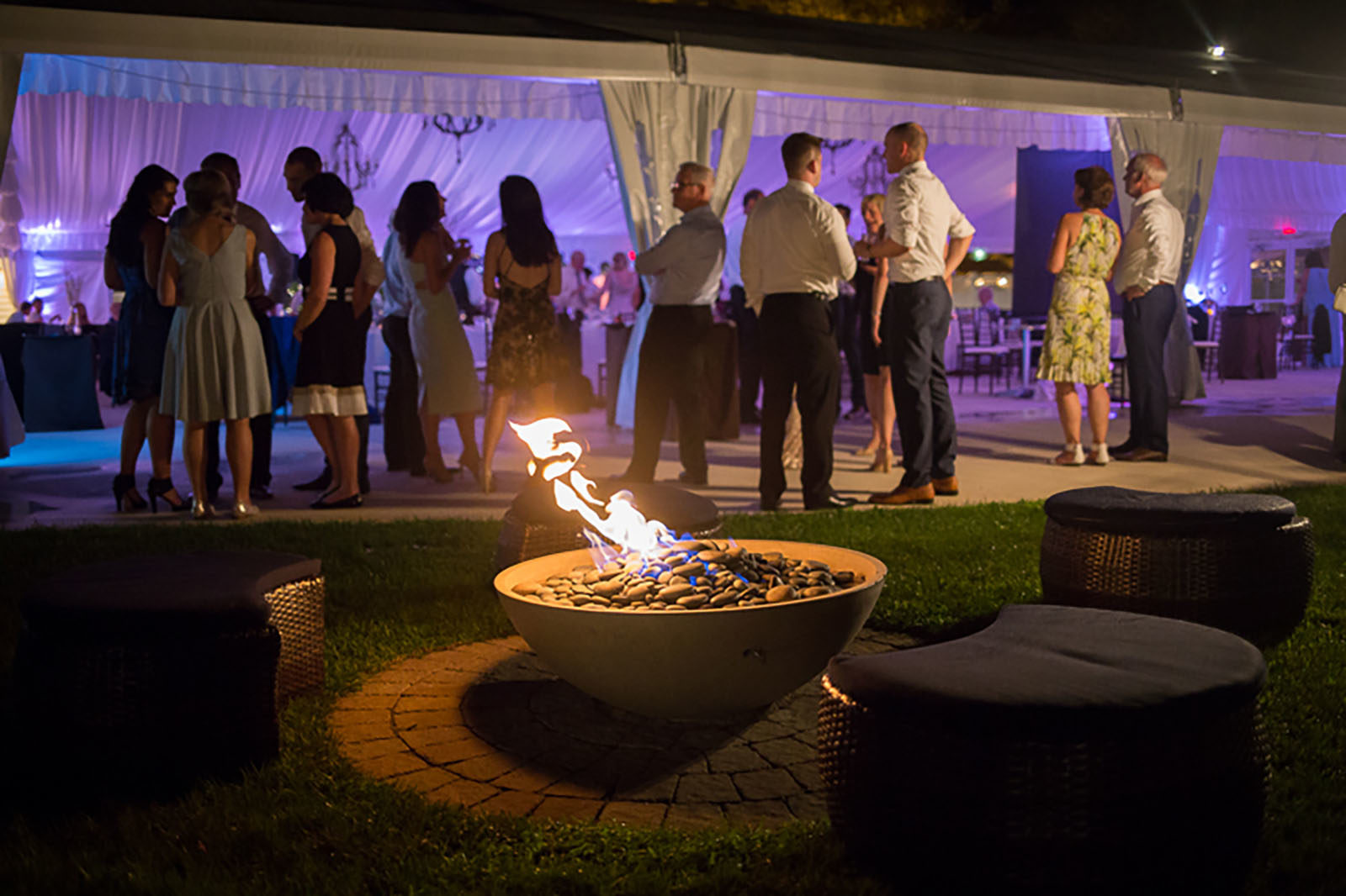 Photography | Outdoor fire pit at the Tent