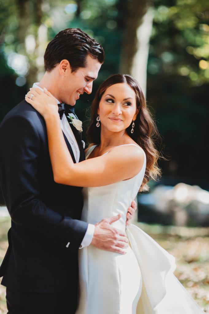 bride and groom portrait shot