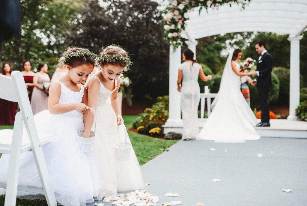 Flower girls at ceremony