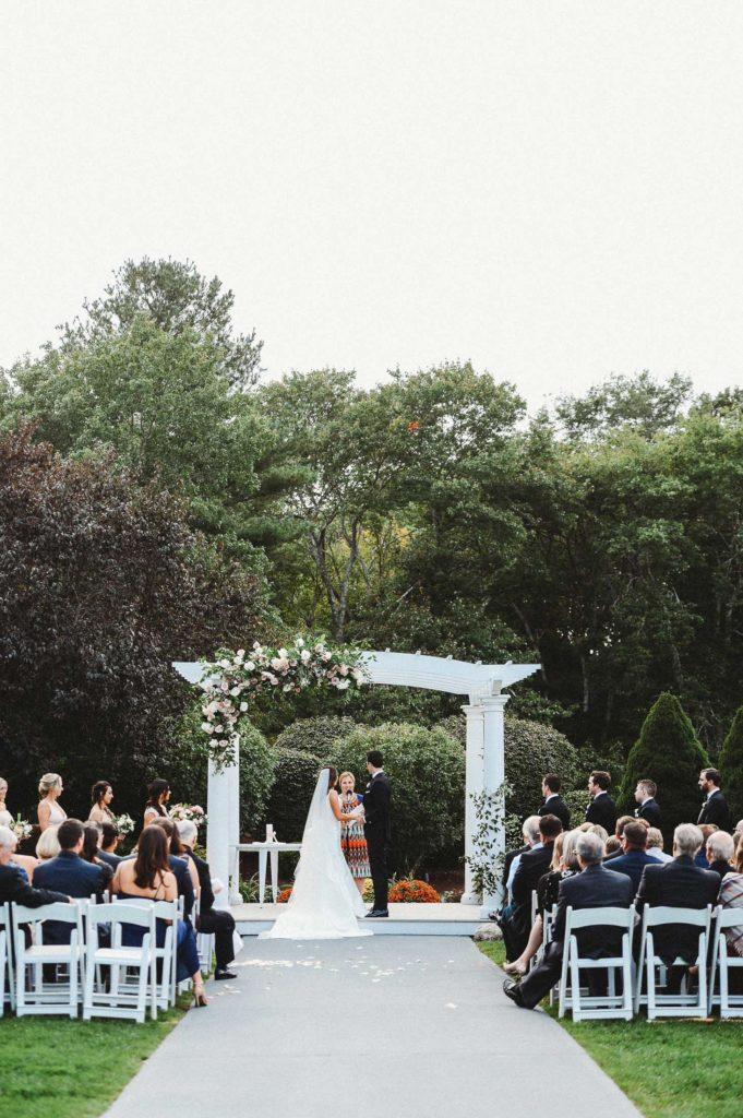 The Villa wedding ceremony outdoor