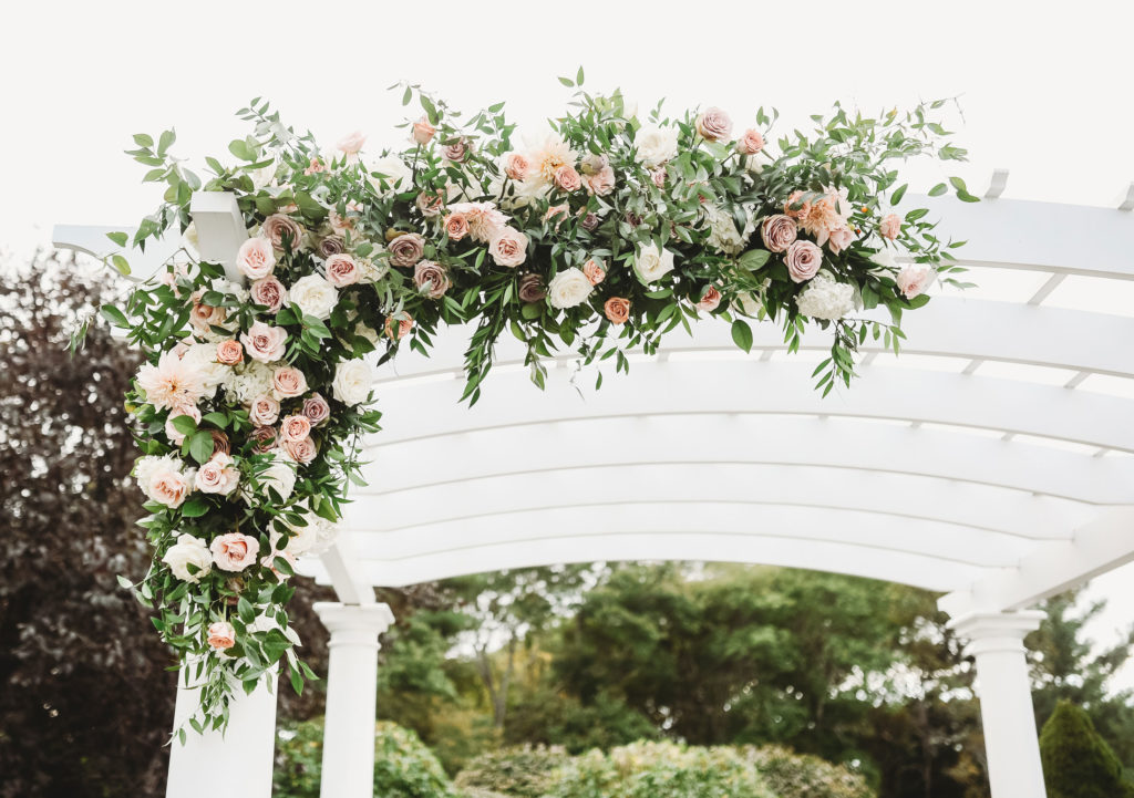 Pergola floral decor