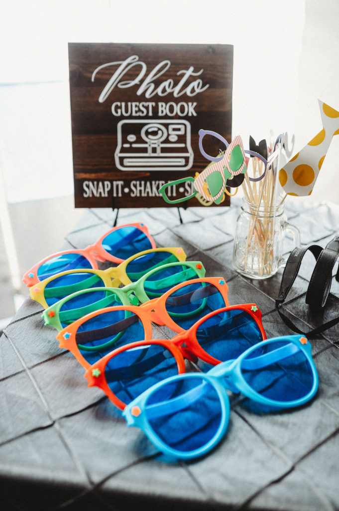 Detail shot of photo booth props