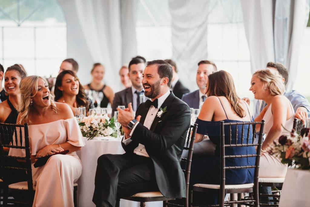 Guests sitting at seats