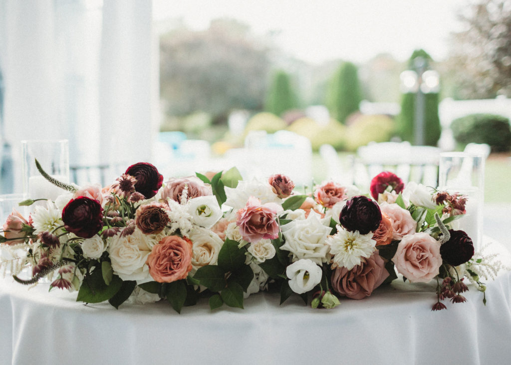 Sweetheart floral centerpiece