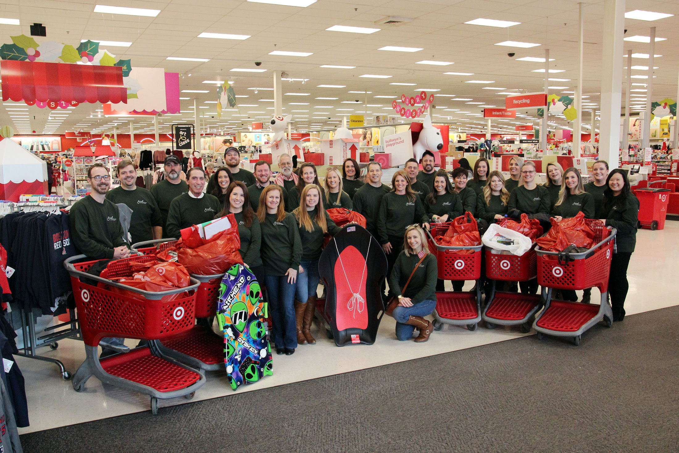 SEG staff poses for a group photo at Target