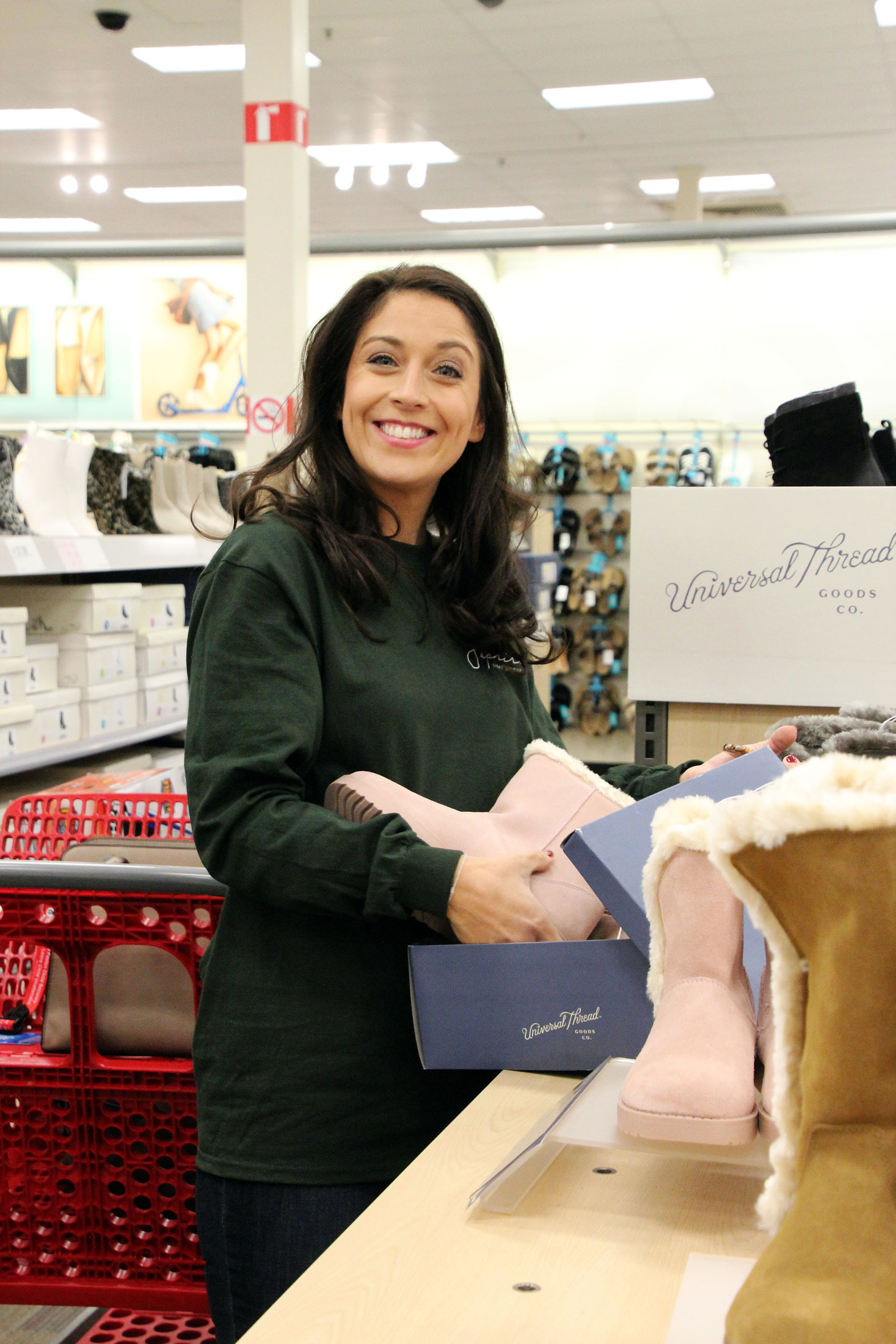 SEG staff shops for winter boots at Target