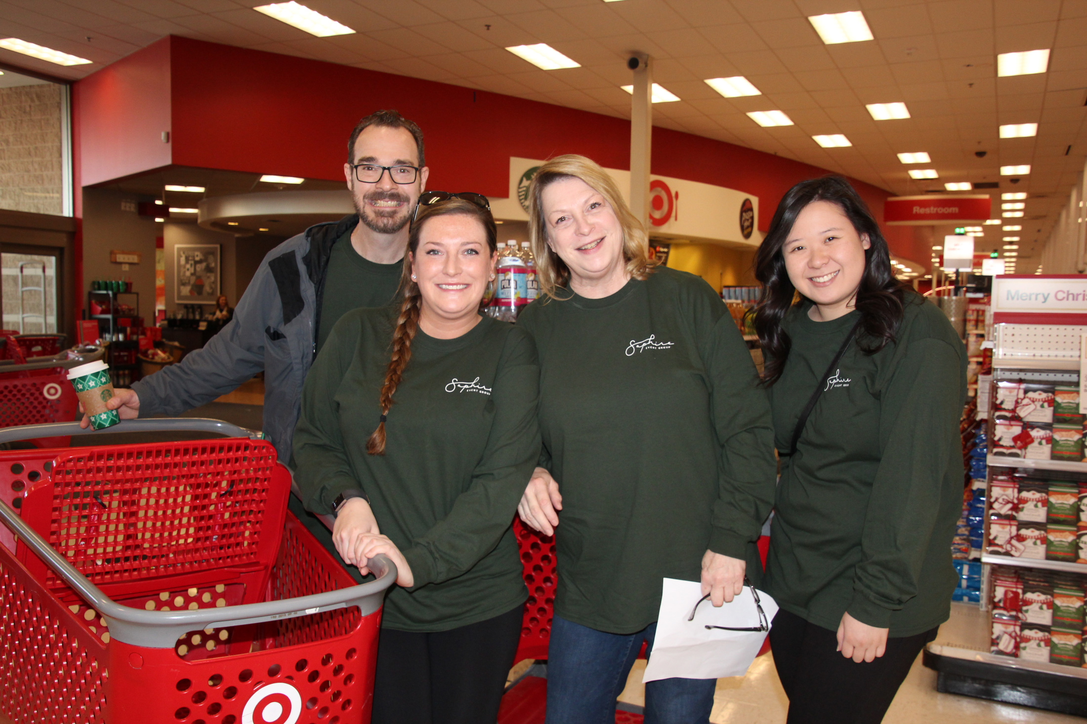 SEG staff poses at Target before shopping