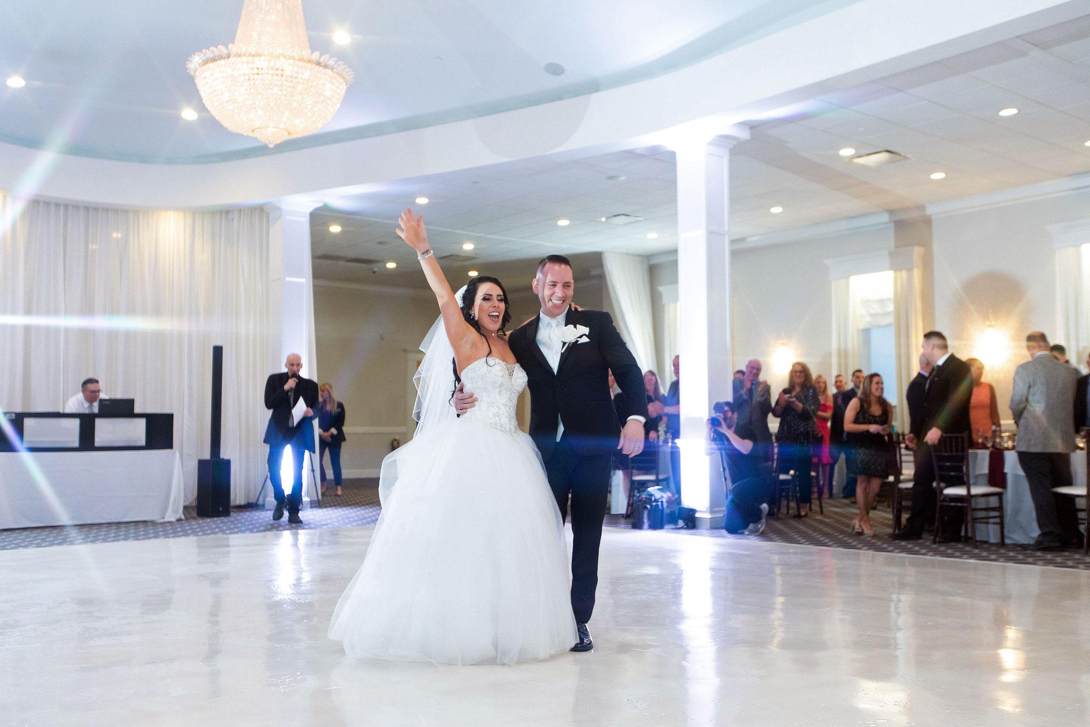 Ballroom wedding reception at Avenir Walpole