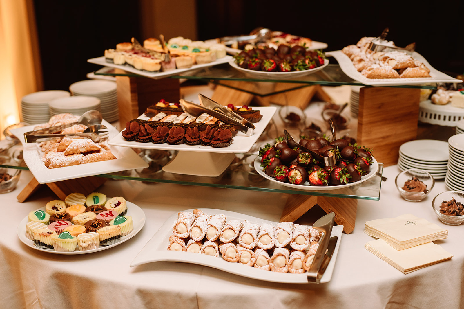 Winter dessert table