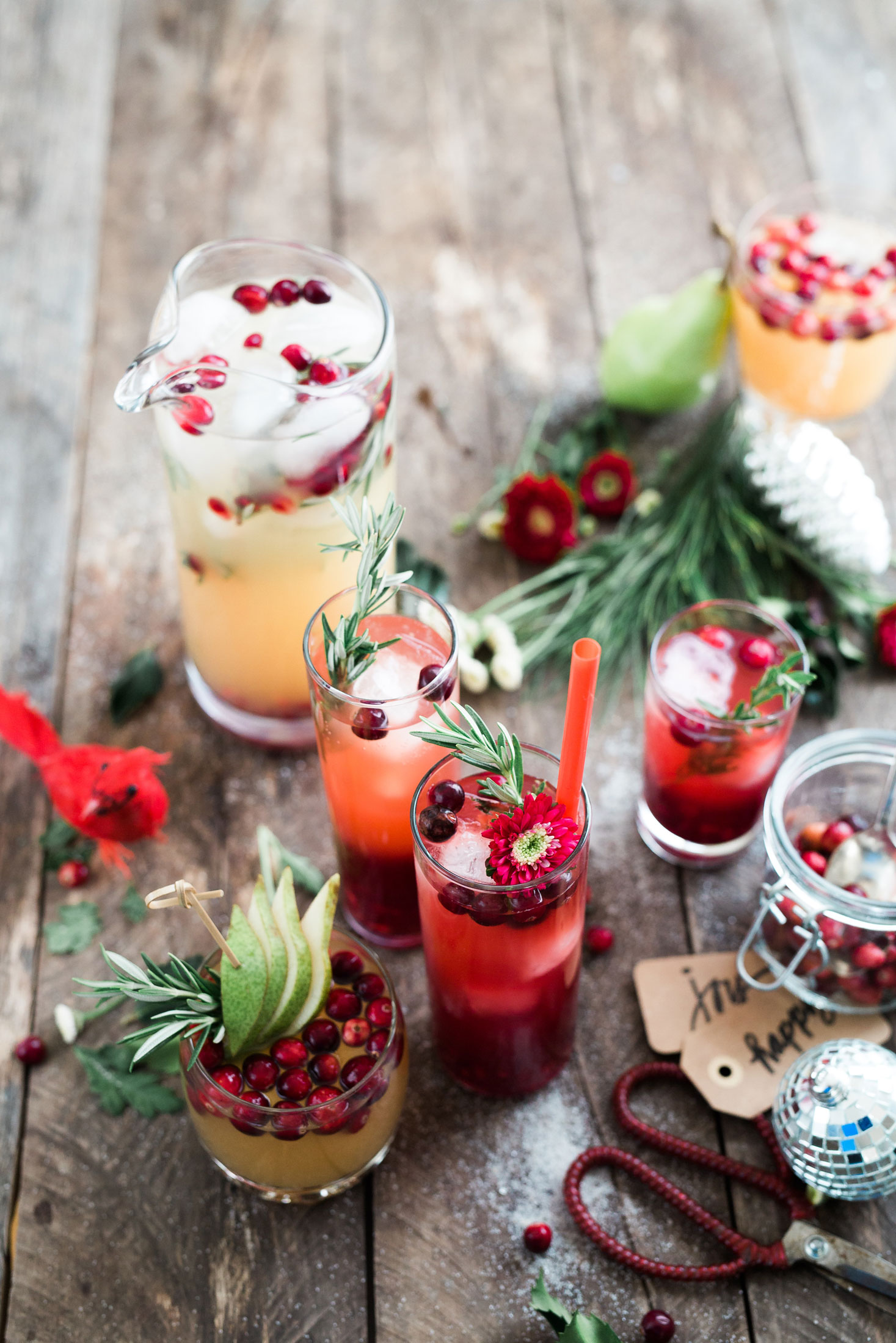 Holiday signature drinks