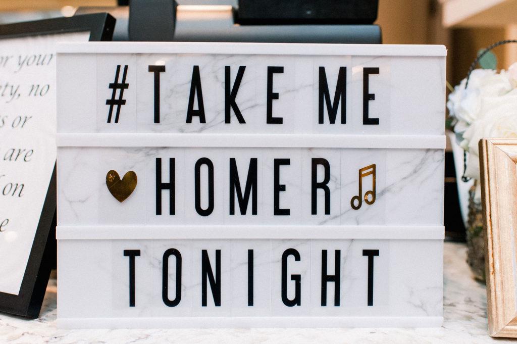 take me homer bar sign
