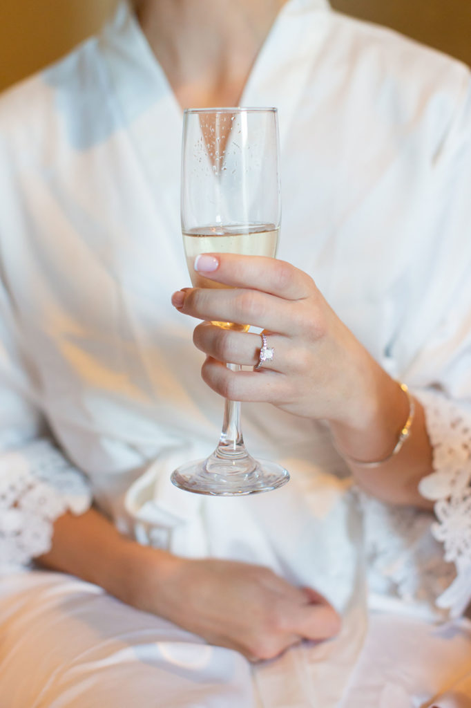 champagne and ring shot