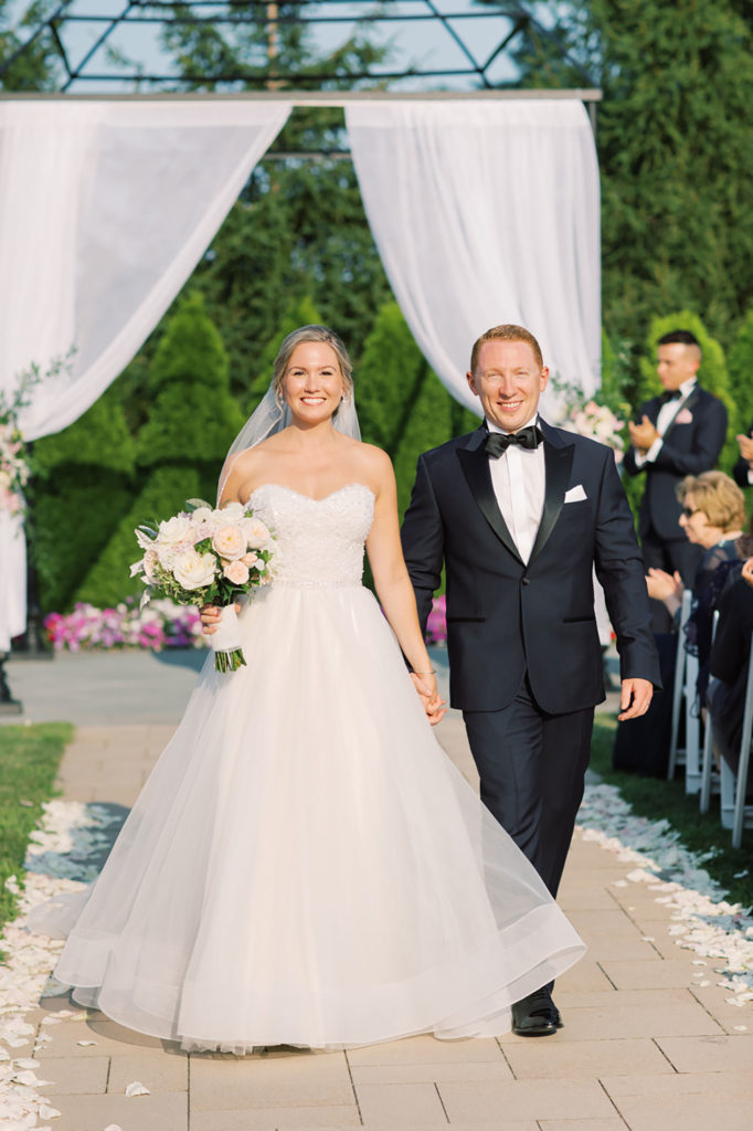 bride and groom recessional