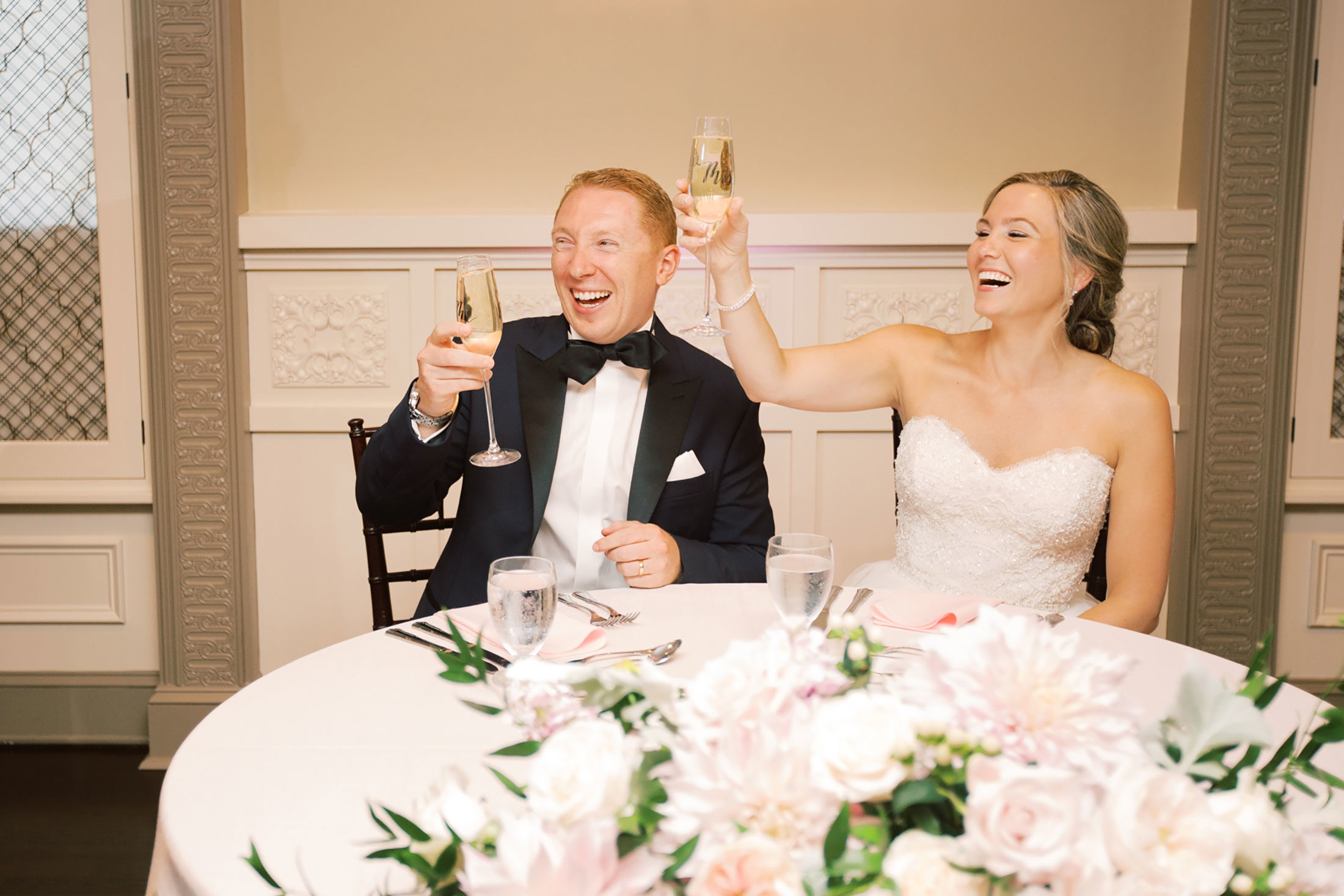 Photography | bride and groom toast