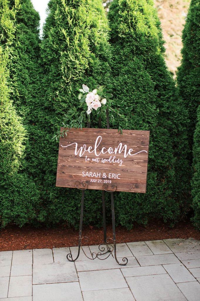 welcome sign for ceremony