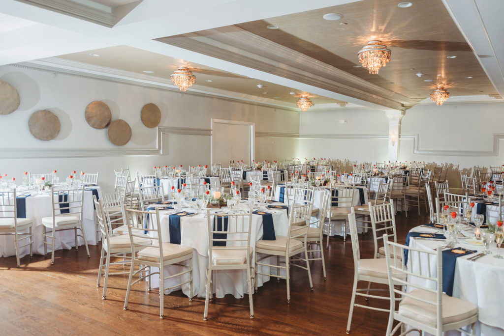 Winter wedding reception decor