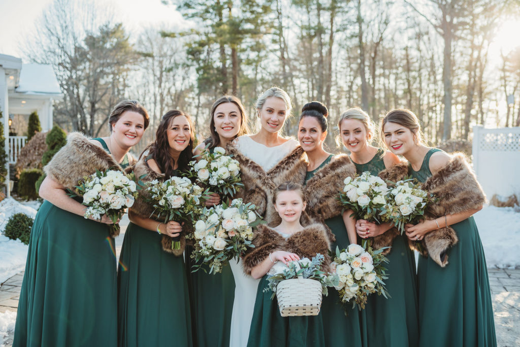 Winter bridesmaids dresses
