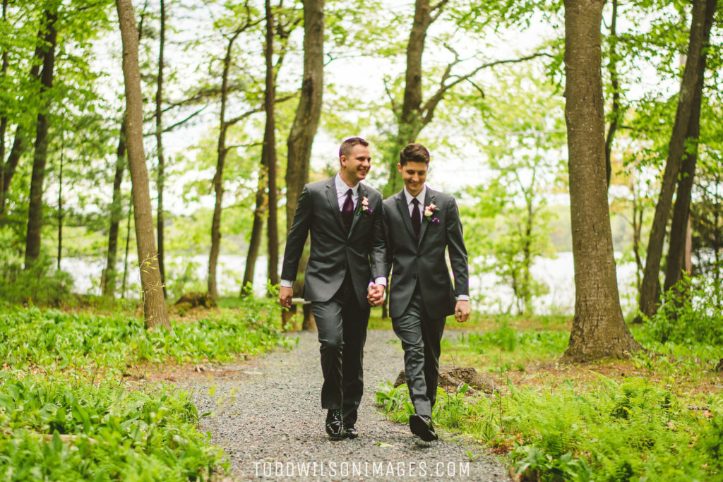 Saphire Estate | Stephen & Ryan walking in the woods