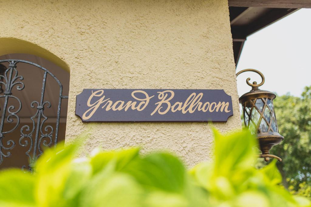Grand Ballroom sign
