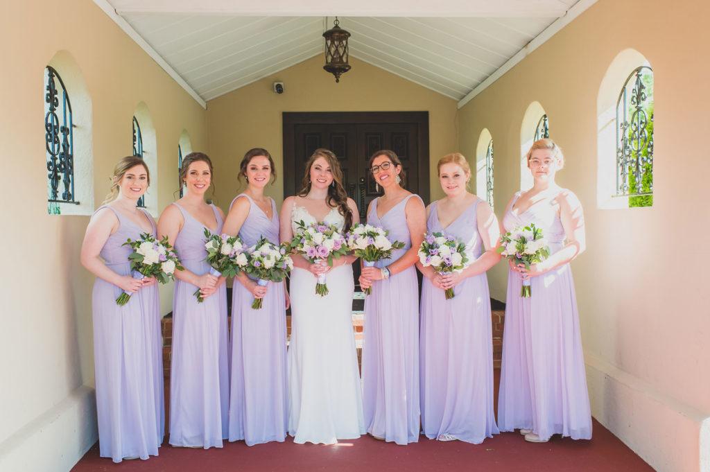 bride and bridal party portrait