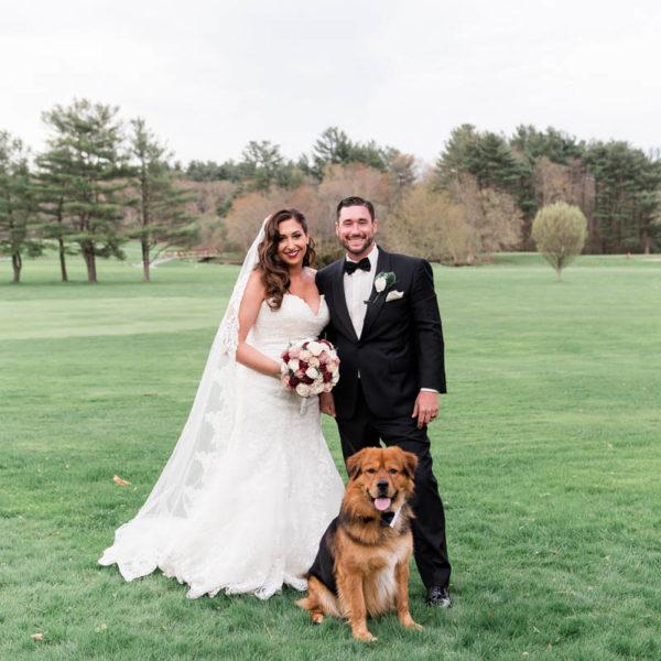 wedding portrait with dog