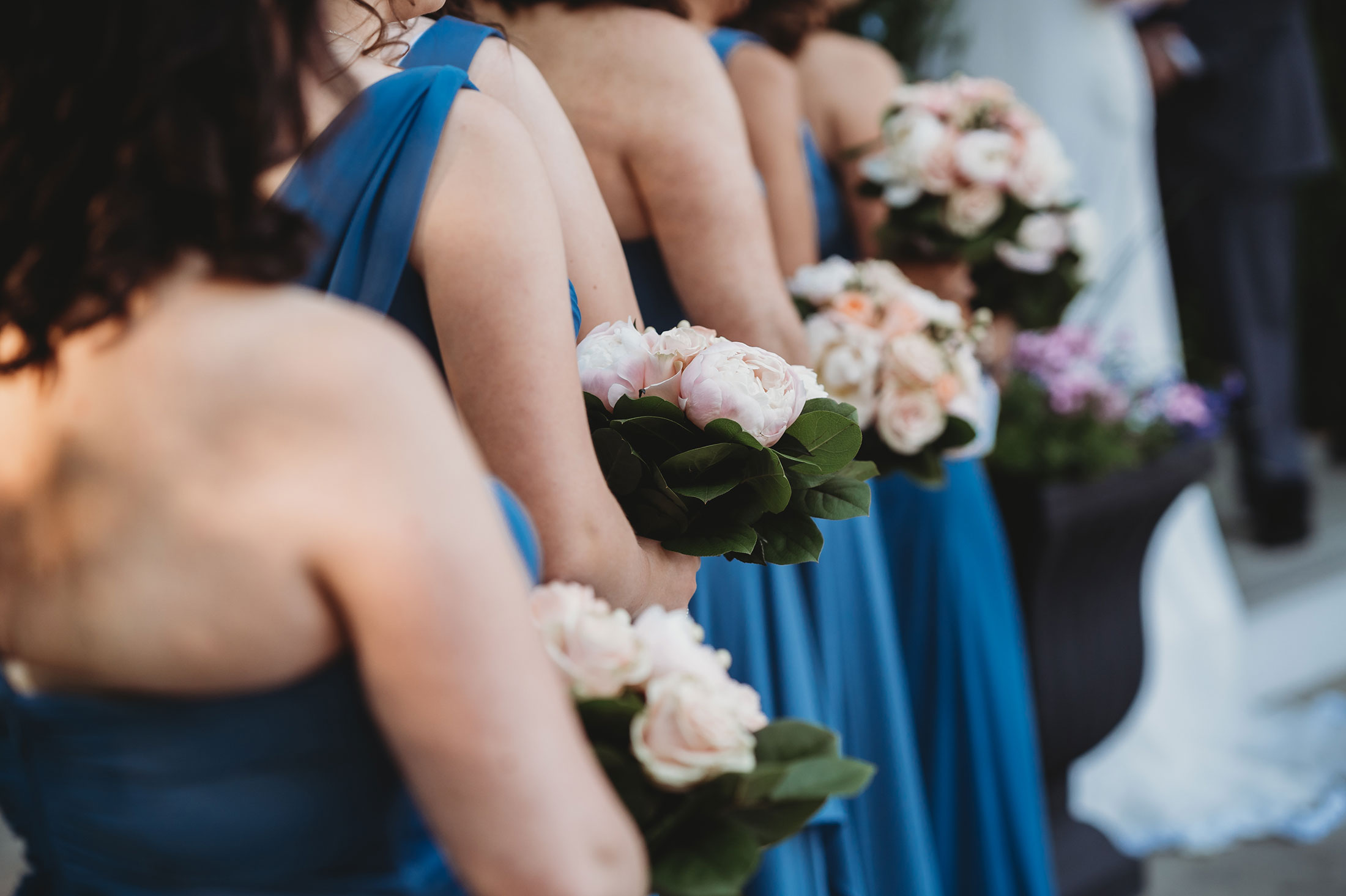 Bridesmaids dresses in Pantone classic blue