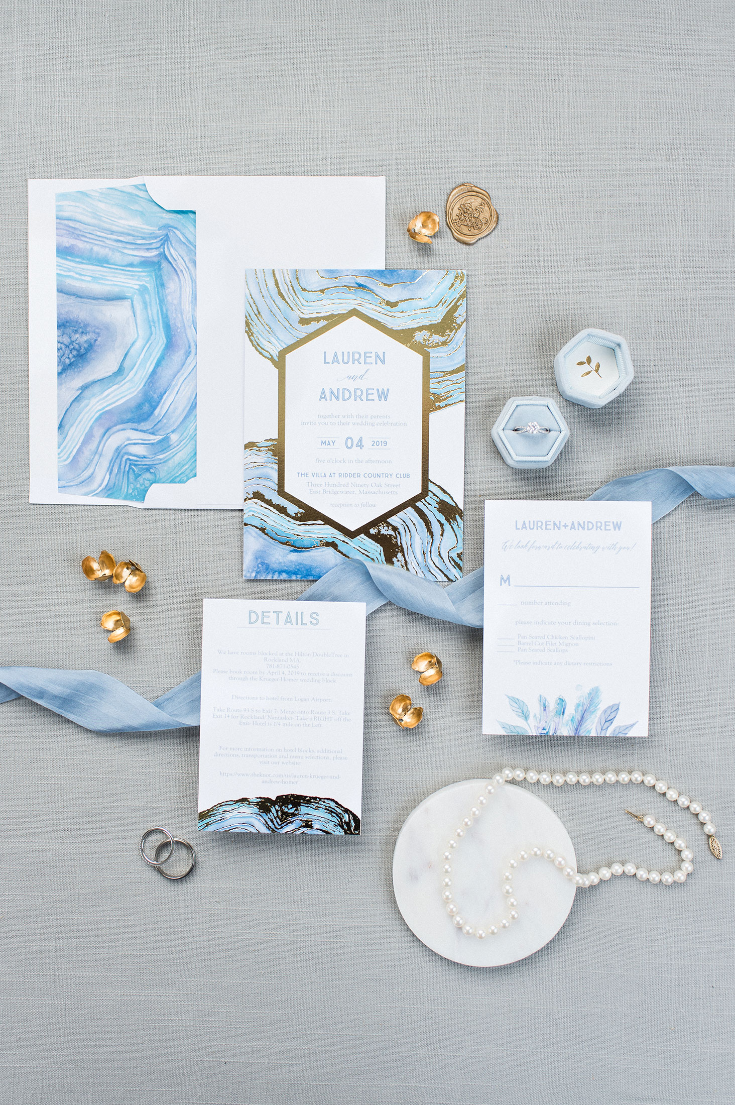 Pantone Color of the Year 2020 wedding invitations