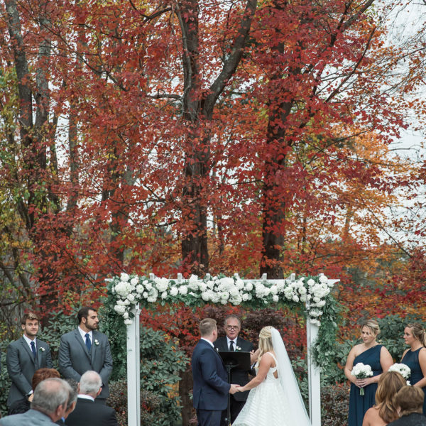 Outdoor ceremony at Avenir in Walpole MA
