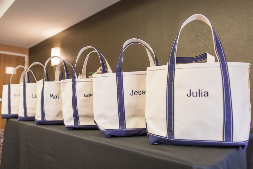 bridesmaid's gift bags
