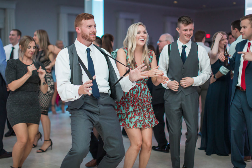 guests dancing at reception