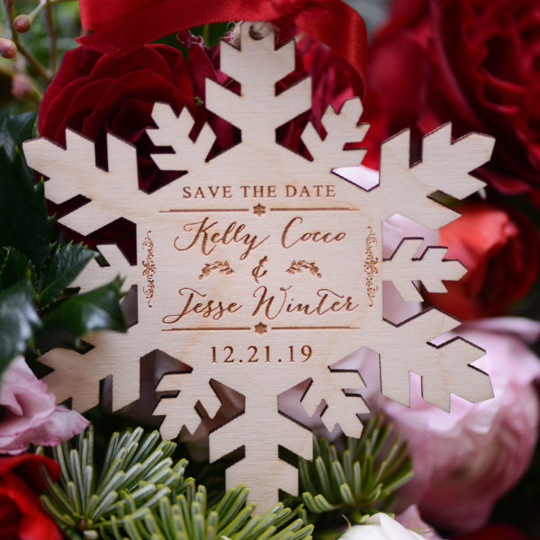 Christmas ornament save the date