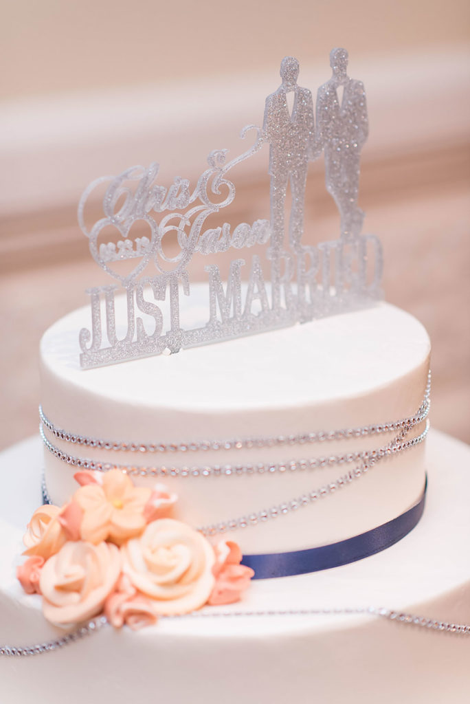 The Villa Madera August wedding Chris and Jason cake topper