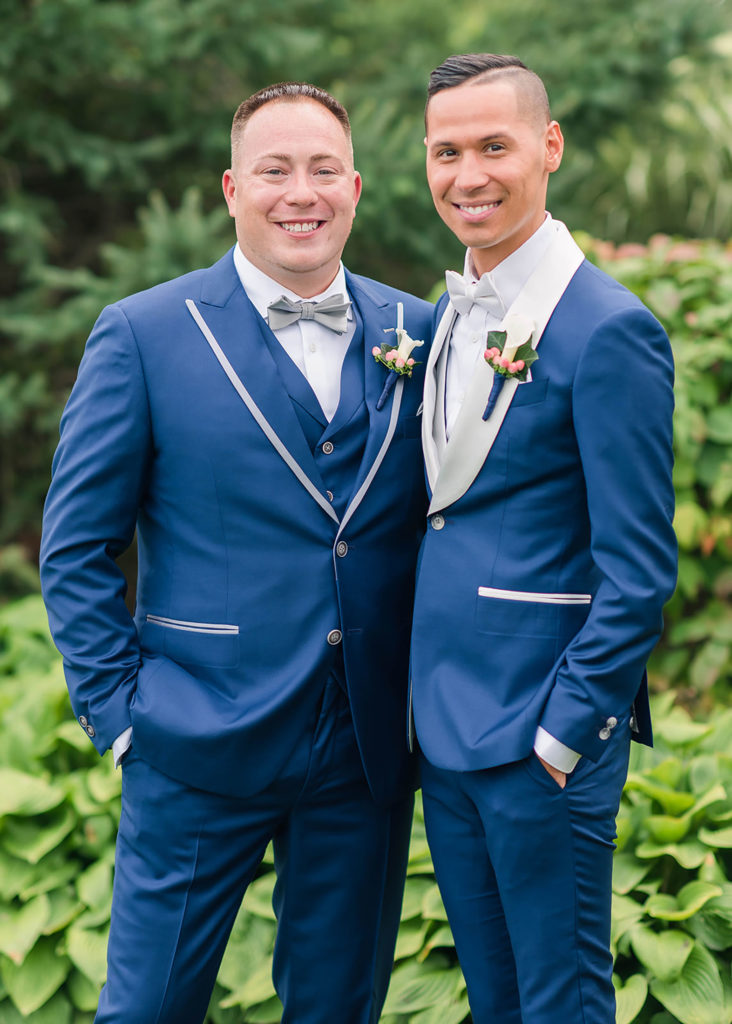 The Villa Madera August wedding Chris and Jason couple portrait