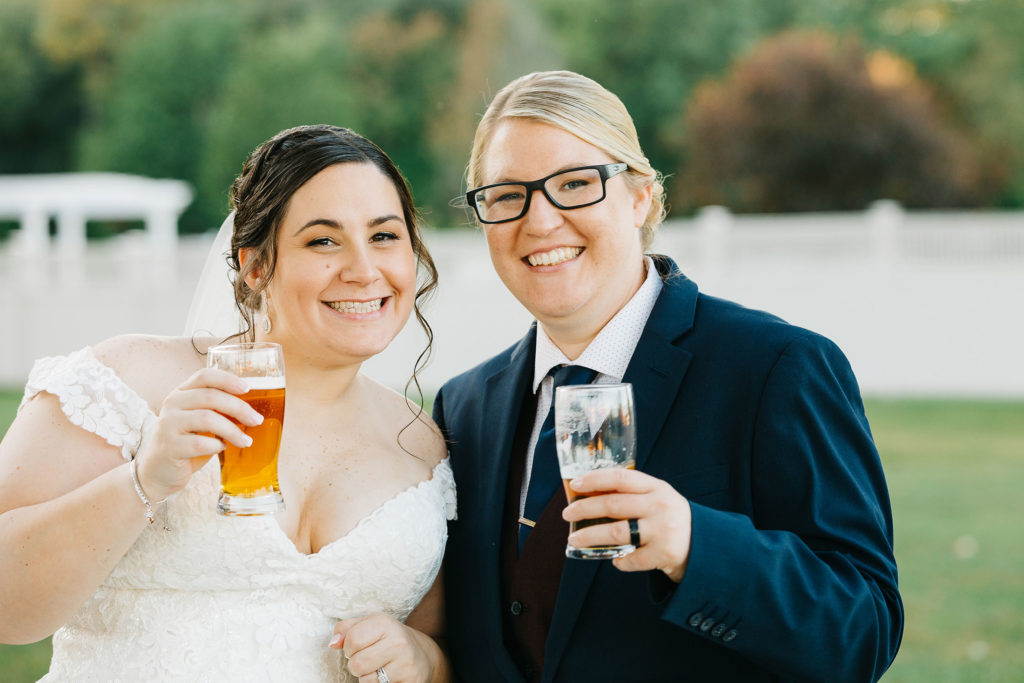 the-villa-grand-ballroom-september-wedding-jocelyn-and-brooke-cheers-with-beers