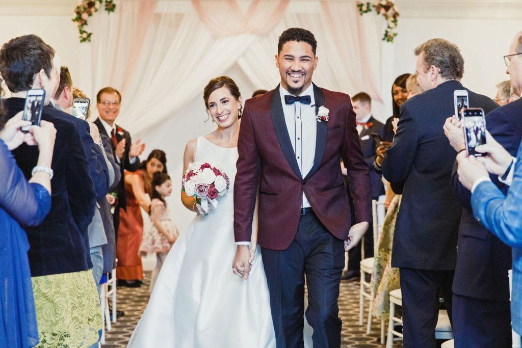 wedding ceremony at Avenir wedding venue