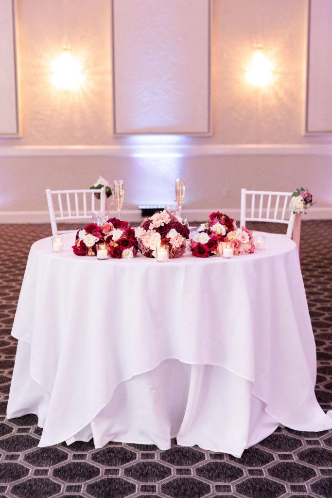 sweetheart table at Avenir