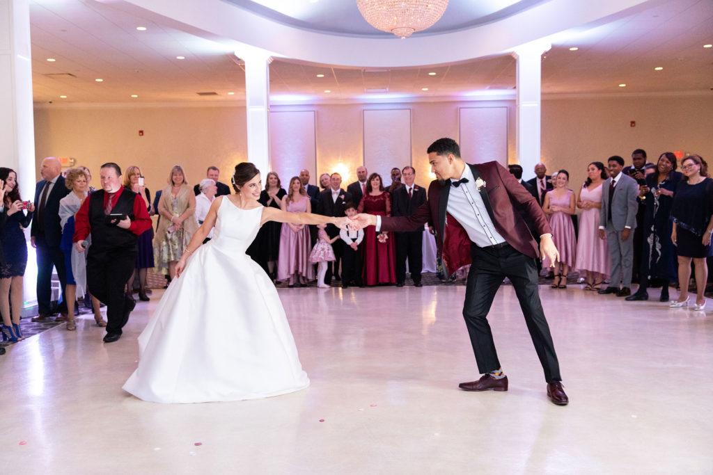 dancing at Avenir wedding reception