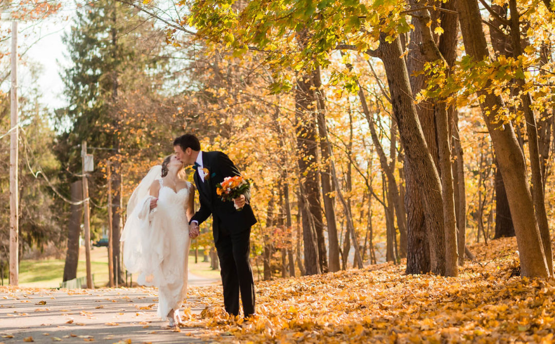 fall wedding in New England