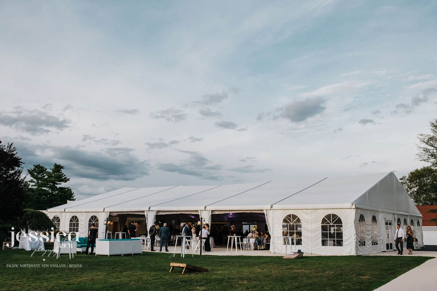 outdoor fall wedding venue tent