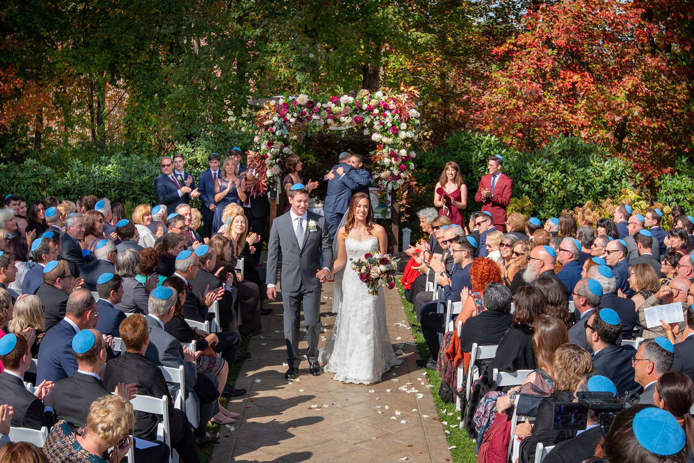 outdoor wedding ceremony at Avenir Walpole MA